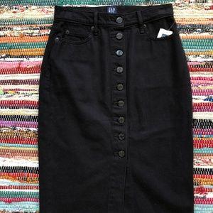 Gap Button Front Denim Skirt